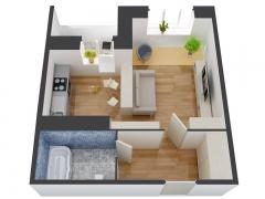 1-комнатные квартиры